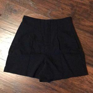 Zara high waisted navy shorts